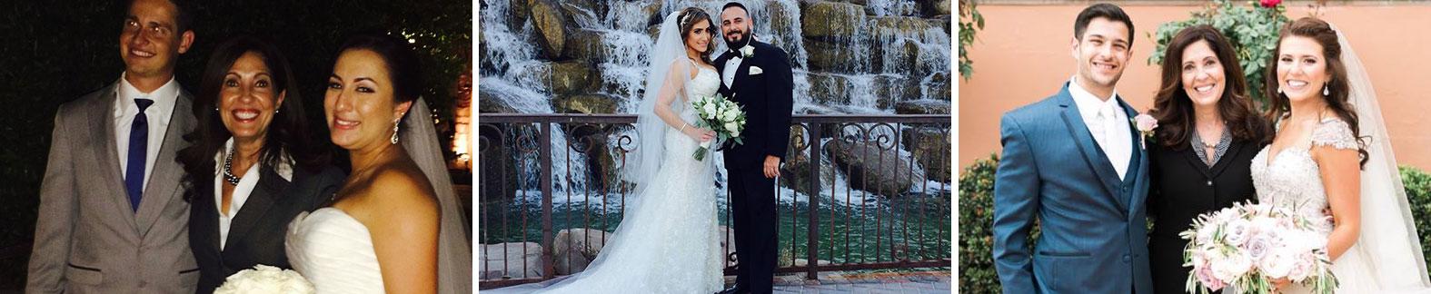 Wedding photos with Reverend Linda Venniro